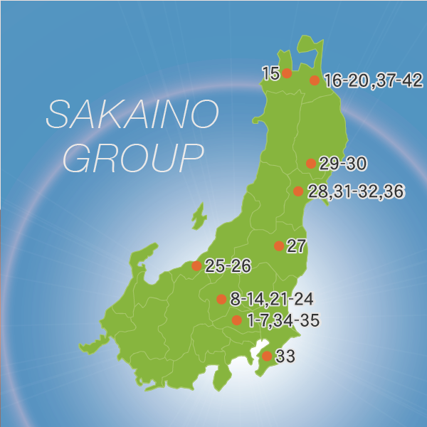 東日本事業所地図